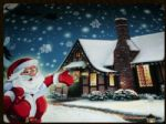 LED CANVAS PICTURE SANTA IS HERE DF15862